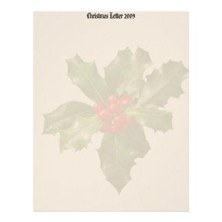 Holly & Berries Christmas Letter 2009 Letterhead