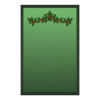Holly Christmas Personalised Stationery