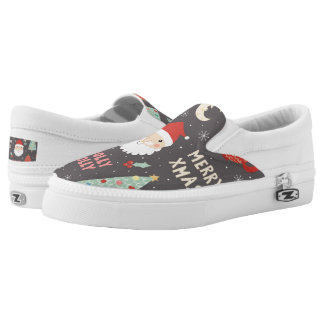 Holly Jolly Merry Christmas Slip On Shoes