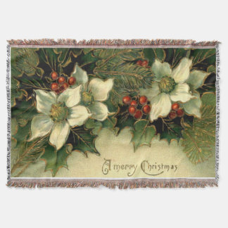 Holly Poster Throw Blanket