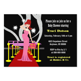Hollywood Baby Shower Invite girl