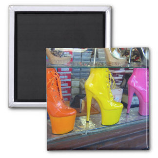 Hollywood Blvd Shoes Square Magnet