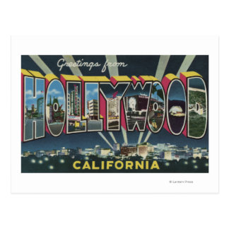 Hollywood, CaliforniaLarge Letter Scenes Postcard