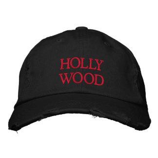 HOLLYWOOD EMBROIDERED BASEBALL CAP