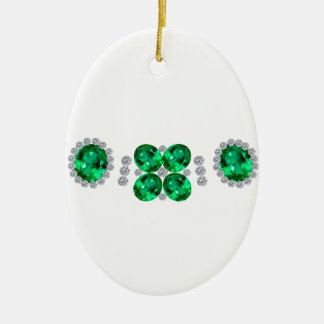 Hollywood Emerald Glamour Necklace Christmas Ornament