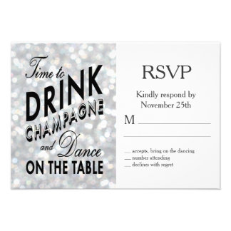 Hollywood Glam RSVP Announcements