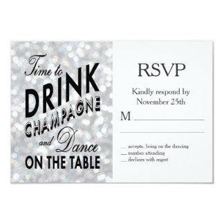 Hollywood Glam RSVP 9 Cm X 13 Cm Invitation Card