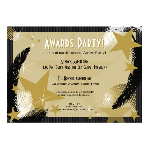 Hollywood Glamour Award Party Invitation