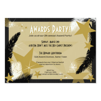 Hollywood Glamour Award Party Invitation