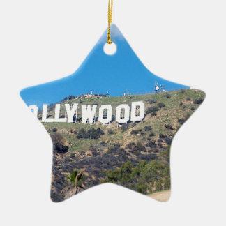 hollywood hills christmas ornament