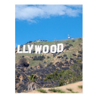 hollywood hills postcard