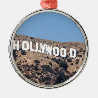 Hollywood Los America Mountains California Sky Christmas Ornament