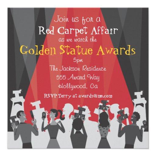 Hollywood Movie Award Party Invitation