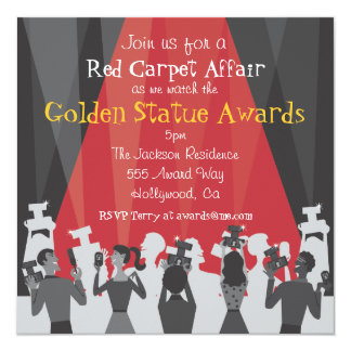 Hollywood Movie Award Party Invitation
