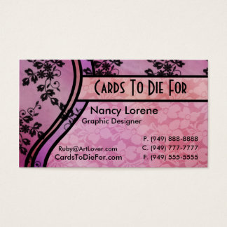 Hollywood Nights in Pink Business Card