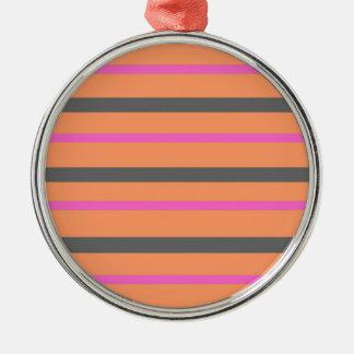 Hollywood Orange Stripes Christmas Ornament