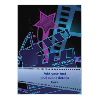 Hollywood Prom Template 13 Cm X 18 Cm Invitation Card