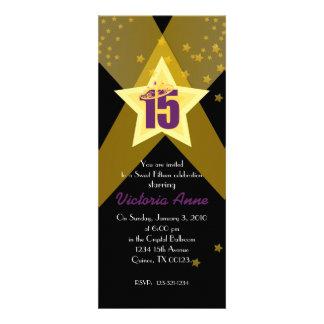 HOLLYWOOD quinceañera custom invitation PURPLE