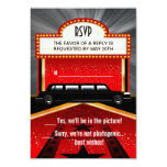 Hollywood Red Carpet Invitation RSVP Template