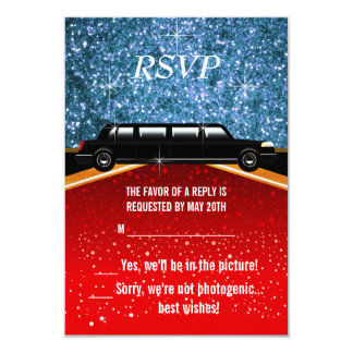 Hollywood Red Carpet RSVP 9 Cm X 13 Cm Invitation Card