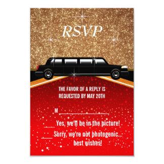 Hollywood Red Carpet RSVP Card