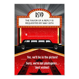 "Hollywood Red Carpet RSVP 3.5"" X 5"" Invitation Card"