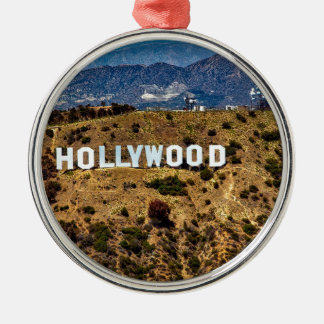 Hollywood Sign Iconic Mountains Los Angeles Christmas Ornament