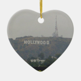Hollywood Sign on the Hills Christmas Ornament