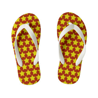 Hollywood star flip flops kids (red & yellow)