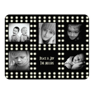 Hollywood Theme Holiday Card Family Photos 11 Cm X 14 Cm Invitation Card