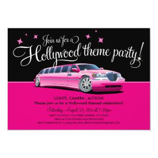 "Hollywood Theme Party Invitations 5"" X 7"" Invitation Card"