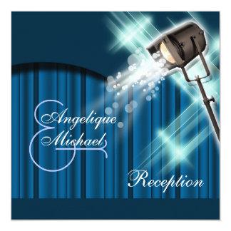 Hollywood wedding reception stage theater 13 cm x 13 cm square invitation card