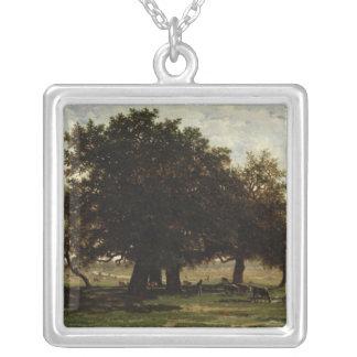 Holm Oaks, Apremont, 1850-52 Silver Plated Necklace