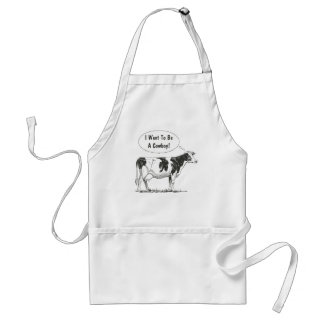 Holstein Thought Cow Customize It Standard Apron