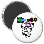 Holy Cow I'm 60 Tshirts and Gifts 6 Cm Round Magnet