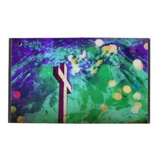 Holy Cross Purple Sparkle iPad Folio iPad Cover