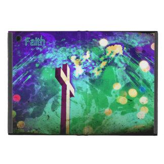 Holy Cross Purple Sparkle iPad Mini Folio Cover For iPad Mini