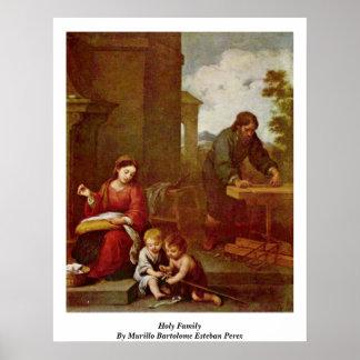 Holy Family By Murillo Bartolome Esteban Perez Poster