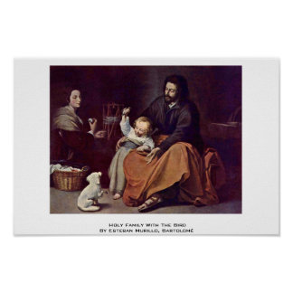 Holy Family With The Bird Poster