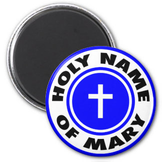 Holy Name of Mary 6 Cm Round Magnet