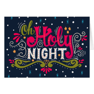 Holy Night Christmas Note Card