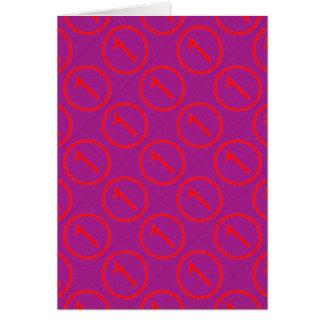 HOLY Purple : NumberONE Pattern Card