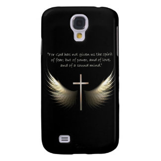 Holy Spirit with Christian Cross and Bible Verse Galaxy S4 Case