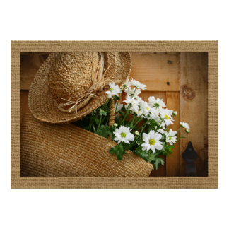 Home and Business Art Decor- Straw Hat Series Poster