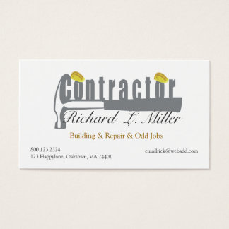 Home Builder Construction Business Card