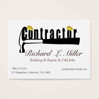 Home Builder Contractor Repair Man Business Card