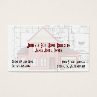 Home Builders Construction Architect Business Card