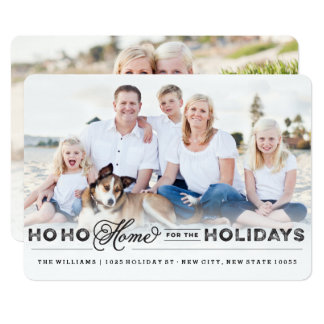Home For The Holidays Moving Announcement Card