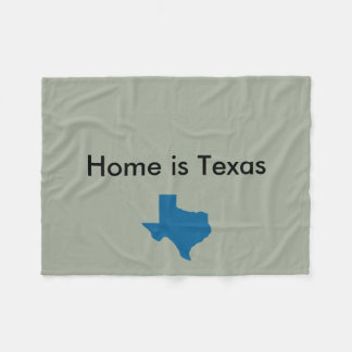 Home is Texas Blanket