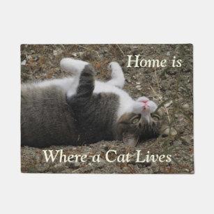 Tabby Cat Doormats Amp Welcome Mats Zazzle Co Nz